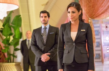 Eduardo (Eduardo Verástegui) and Divina (Daniella Alonso) in Columbia Pictures' PAUL BLART: MALL COP 2.